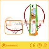 Solid Basketball Rim Hollow Basketball Hoop Red Color