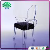 Mid Century Modern Furniture Lucite Antique Armrest Chair Living Room Chair With Clear Acrylic Chair Legs