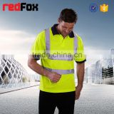 180gsm net long sleeve safety t-shirt for running mesh safety red t-shirts fire proof safety t-shirt