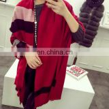 Solid Cashmere Textile Scarf Shawl Autumn for Women Cape Fringe Fashion Scarves