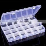 24 Compartments Transparent Plastic Box Jewelry Bead Storage Container Craft Organizer