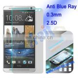 New Arrived 0.3mm 2.5D Anti-Blue Ray Tempered Glass Screen Protector for HTC One Max T6