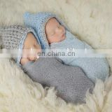 netWholesale Newborn Pixie Baby Bonnet, Crochet Baby Bonnet, Gray Bonnet, Blue Bonnet, Newborn Photo Prop, Baby Boy Twins Beanie