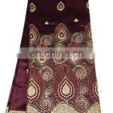 new style African beaded raw silk george fabric from China