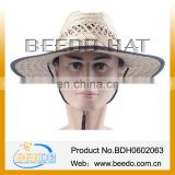2014 Hollow grass straw hat wide brim straw hat