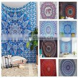 Double size mandala tapestry multi colour Bed cover bed sheet SSTH54