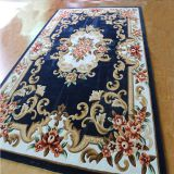 Navy Blue Floral Carpet Cut Pile Luxury Carpet Living Room Rugs