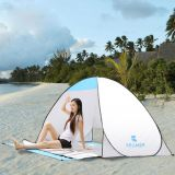 Portable lightweight beach tents fishing tents with ground cushion for 2 persons