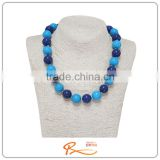 Buy wholesale direct from china for anniversary sapphire blue bead charm necklace