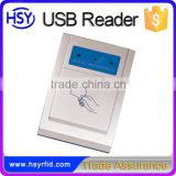 HSY-U181W Wholesale Security Online Shop Card Sensor 13.56mhz RFID Reader communicate via USB