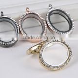 26*32 oval shape zinc alloy metal magnetic floating live locket pendant popular designer necklace cheap price