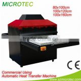 pneumatic Large format machine 80x100cm,100x120cm, 100x160cm double stations heat press machine