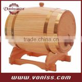 Oak Barrel with Steel Hoops Champagne Oak Barrel White Oak Barrel Whiskey Kit