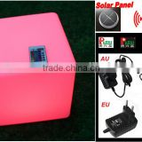 Solar LED light cube with remote control YXF-4040S