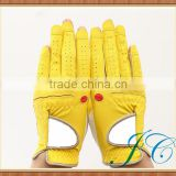 Professional colored leather golf gloves with custom made for women