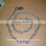 high quality electro galvanized dog choke chain