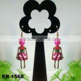 2014 Lastest Fashion Pretty girl's french doll earrings