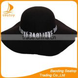 Hat felt trilby British female retro letters Autumn winter season new color wool brim hat basin hat