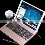 "2016 New Tablet PC bluetooth keyboard for iPad pro 12.9"" gray,gold silver fashion aluminum alloy best quality"