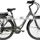 Carrier battery city e-bike 700C electric city bike with LCD display