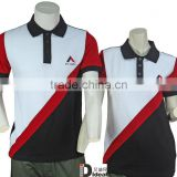 Black and white promotional polo shirt/New design promtoional polo shirt/Uniform cotton polo shirt