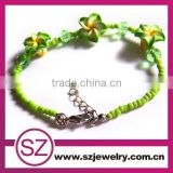 F25 flower ploymer clay beaded anklets 2014