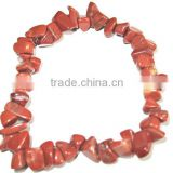 Gemstone red jasper chips bracelet jewelry beads