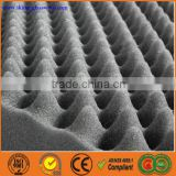 Made in China wave shape high density fireproof acoustic foam soundproof rubber sheet