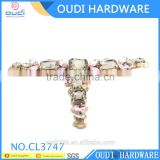 Fashion Ladies Shoe Accessories Rhinestone Iron Buckles For Sandal                                                                         Quality Choice