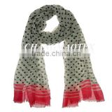 polyester white dot pringting scarf