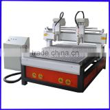 double heads cnc router with vacuum table for wood