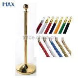 gold finish velvet rope crowd control barriers poles