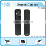 JVE3302 Cheap Mini camera MINI button camera with DVR, wireless DVR recorder,security camera Button 8GB CE FCC RoHS