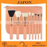 Free Sample 8pcs High Quality Rose Gold Makeup Brush Set With Pink Zipper Pouch Cosmetic Bag                                                                         Quality Choice