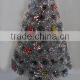New Design Fiber Optical Tree With Top Star& Accessories/Outer Door&Inner Door Decoration