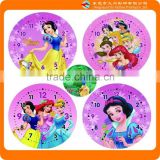 2015 new products custom white snow princess clock face