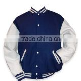 Blue And White New Baseball Varsity Jacket ,USA Custom Varsity Jacket,Leather Varsity Jacket