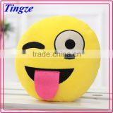 Wholesale funny POP cotton multifunction Emoticon plush traval emoji throw pillow/decorative pillow/neck pillow for rest