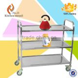 2015 Popular Factory Price hospital stainless steel food trolley cart