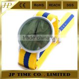 colorful fabric strap wood face watch nato strap wood dial watch water resistant