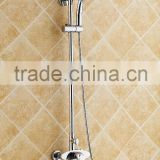 brass hard tube shower mixer set/wall mounted bathroom shower faucet with top shower head