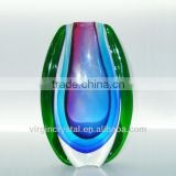 Colored Glass Crafts/ Decorative Glass Vase for Business Gifts