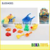 New plastic cheap sand beach cart toy for kids various sand molds toy