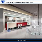 Solid surface wine bar reception desk, commercial bar counters