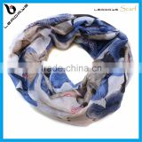 flower printing new infinity wholesale lady circle infinity scarf