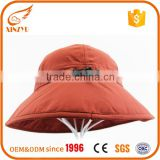 Sun hats made in china cotton red baby bucket hat with string                                                                                                         Supplier's Choice