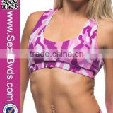 New Arrival Camouflage Sexy Sports Bra Yoga Wear For Women                                                                         Quality Choice