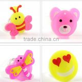 trendy gift toys for child hot Christmas light emitting plastic cartoon children ring