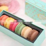 New luxury cardboard printed macaron box packaging, paper colorful macaron food packaging, macaron box wholesale