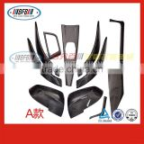 wholesale auto stick on carbon interior trims FOR BMW F30 A Style 3 series 2015 2016 with mirror cover